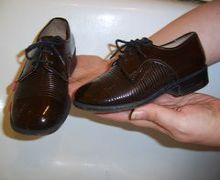Boys dress shoes made by Lermont Moukoian
