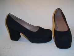 Women's suede shoes made by Lermont Moukoian