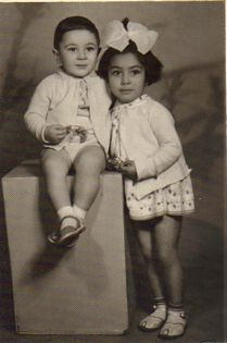 Harutiun & Anna in Yerevan, Armenia in 1964 wearing kids leather sandals made by our Dad Lermont Moukoian
