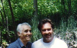 My Dad Lermont Moukoian & my brother Harutiun Moukoian in Salt Lake City, Utah in 1994